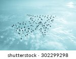 birds on sky   growth... | Shutterstock . vector #302299298