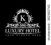 luxury logo template in vector...   Shutterstock .eps vector #302302742