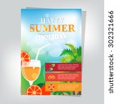 summer brochure design | Shutterstock .eps vector #302321666