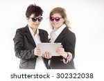 manager with colored sunglasses ... | Shutterstock . vector #302322038