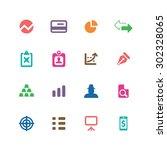 finance icons universal set for ... | Shutterstock .eps vector #302328065