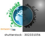 vector infographics design with ... | Shutterstock .eps vector #302331056