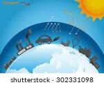 infographics design with... | Shutterstock .eps vector #302331098