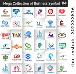 mega collection of vector logo... | Shutterstock .eps vector #302333816