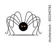 vector illustration of a black... | Shutterstock .eps vector #302340782