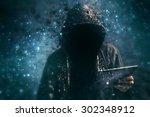 pixelated unrecognizable... | Shutterstock . vector #302348912