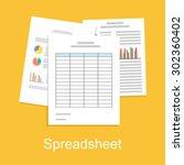 spreadsheet concept... | Shutterstock .eps vector #302360402