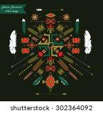 native american tribal...   Shutterstock .eps vector #302364092
