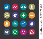 fitness icons universal set for ... | Shutterstock .eps vector #302371586