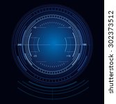 techno target interface precise ... | Shutterstock .eps vector #302373512