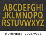 english alphabet | Shutterstock . vector #302379338
