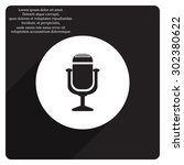 microphone. voice recording....   Shutterstock .eps vector #302380622