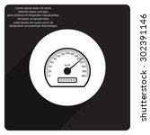 speedometer. icon. vector design | Shutterstock .eps vector #302391146