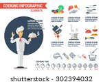 flat style chef. flat style... | Shutterstock .eps vector #302394032