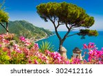 scenic picture postcard view of ... | Shutterstock . vector #302412116