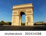 triumphal arch in paris  france | Shutterstock . vector #302414288