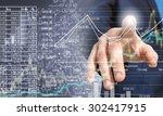 close up of businessman... | Shutterstock . vector #302417915
