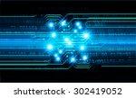 dark blue color light abstract... | Shutterstock .eps vector #302419052