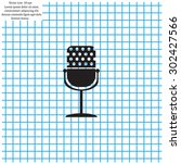 microphone web icon  flat design | Shutterstock .eps vector #302427566
