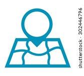 blue map pointer infographic ... | Shutterstock . vector #302446796