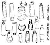 toiletry sketch  perfumery... | Shutterstock .eps vector #302448632