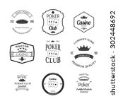 poker club and casino emblems... | Shutterstock .eps vector #302448692