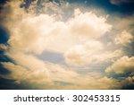 vintage cloud on sky background ... | Shutterstock . vector #302453315