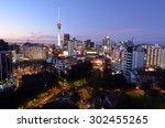 auckland   aug 01 2015 aerial... | Shutterstock . vector #302455265