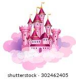 Vector Pink Princess Magic...