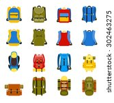 travel backpack  camping... | Shutterstock .eps vector #302463275