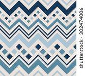 geometric vector pattern in... | Shutterstock .eps vector #302474006