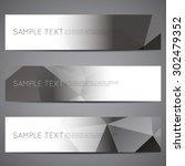 modern vector banners polygonal ... | Shutterstock .eps vector #302479352