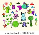 psychedelic set. see more in my ... | Shutterstock .eps vector #30247942