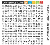 car service icons set ... | Shutterstock .eps vector #302483468