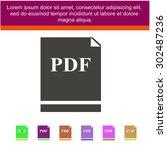 pdf vector icon | Shutterstock .eps vector #302487236