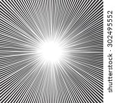 speed radial lines graphic... | Shutterstock .eps vector #302495552