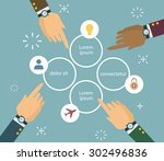 hands and choice elements | Shutterstock .eps vector #302496836