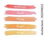 light red pink banner vintage... | Shutterstock .eps vector #302498012