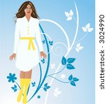 lady  vector | Shutterstock .eps vector #3024990