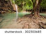 the third level of erawan... | Shutterstock . vector #302503685