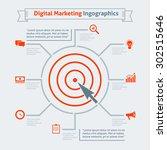 digital marketing infographics... | Shutterstock .eps vector #302515646