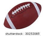 american football isolated over ... | Shutterstock . vector #30252085