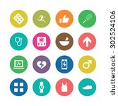 fitness icons universal set for ... | Shutterstock .eps vector #302524106