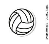 volleyball ball    vector icon | Shutterstock .eps vector #302524388