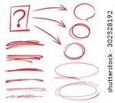 vector set of highlighter... | Shutterstock .eps vector #302528192
