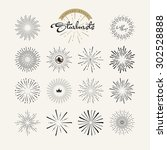 starbursts vintage style design ... | Shutterstock .eps vector #302528888