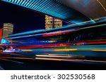 modern city at night. shanghai...   Shutterstock . vector #302530568