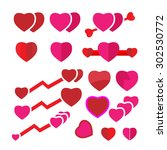 set heart vector   Shutterstock .eps vector #302530772