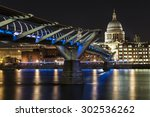 st. paul cathedral and... | Shutterstock . vector #302536262