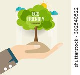 eco friendly. ecology concept... | Shutterstock .eps vector #302540522